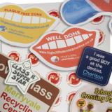 Image of White Surface Vinyl Adhesive Stickers - Cut from within 9sq cm
